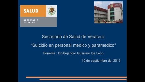 suicidio en medicos y enfermeras 2013  secretaria de salud 1