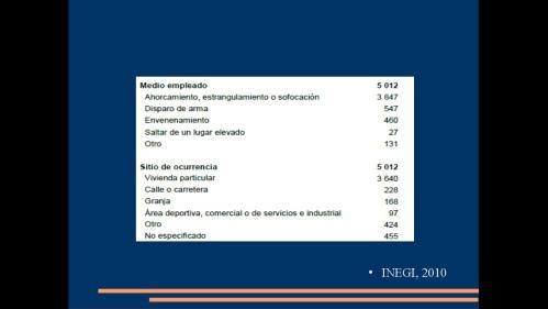 suicidio en medicos y enfermeras 2013  secretaria de salud 10