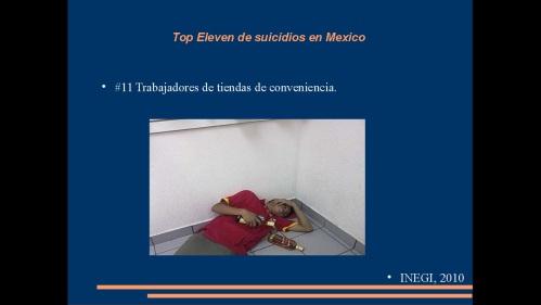 suicidio en medicos y enfermeras 2013  secretaria de salud 14