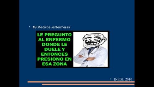 suicidio en medicos y enfermeras 2013  secretaria de salud 17