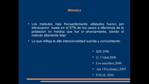 suicidio en medicos y enfermeras 2013  secretaria de salud 33