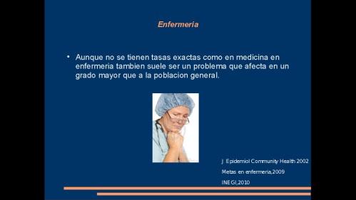 suicidio en medicos y enfermeras 2013  secretaria de salud 34