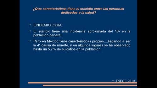 suicidio en medicos y enfermeras 2013  secretaria de salud 9